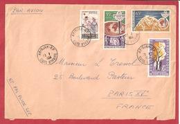 Y&T N°224+225+226+++ABIDJAN    Vers  FRANCE 1964 - Côte D'Ivoire (1960-...)