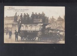 Besetzung Belgien AK Englischer Autobus In Brügge 1914 - Busse & Reisebusse