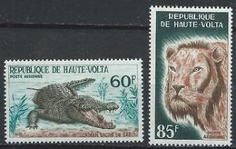 Haute-Volta YT PA 25-26 XX / MNH Crocodile Lion Animal Wildlife - Haute-Volta (1958-1984)