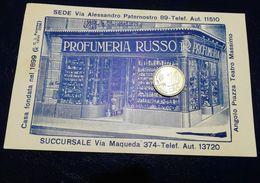 PA506 SICILIA PALERMO Pubblicitaria Profumeria RUSSO 1932 Non Viaggiata - Palermo