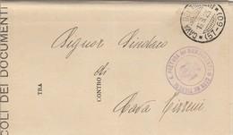 Giffoni Valle Piana. 1928. Annullo Frazionario ( 57 - 89) Al Verso Di Raccomandata In Franchigia, Con Testo - 1900-44 Vittorio Emanuele III