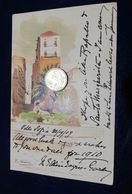 PA509 SICILIA PALERMO 1909 Illustratore Lentini Piazza Marina Rara Viaggiata - Palermo