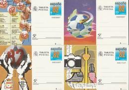 1982 España. Entero Post. Mund. Futbol España'82 (Edif.129/32)** 4v - Enteros Postales
