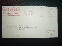 LETTRE EMA N à 1 1/2 D + 1 1/2 D + 2 1/2 D Du 10 XII 53 CLUAIN DOLOAIN + Mastalath Plaster Base - 1949-... République D'Irlande