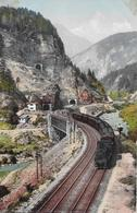 FERROVIA DEL GOTTARDO → Doppel-Dampflok In Den Kehrtunnels, Ca.1920 - TI Tessin