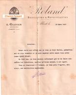 Document Du 23/03/1907 ROLAND Bicyclettes & Motos - OLLIVIER Constructeur - Albert 80 - France