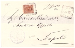 Bisceglie. 1900. Annullo Tondo Riquadrato BISCEGLIE, Su Lettera Senza Testo - 1900-44 Vittorio Emanuele III