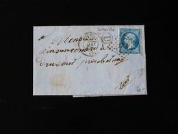 LETTRE DE SOTTEVILLE POUR DRUCOURT   -  1864  - - Storia Postale