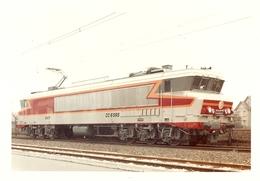 Photographie De Locomotive électrique, La CC-6565 D'Alsthom Dans Sa Livrée D'origine, Grande Photo Vers 1975 - Trains
