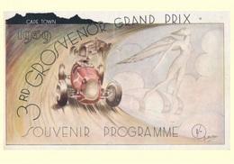 Car Automobile Grand Prix Postcard Grosvenor 1939 - Reproduction - Pubblicitari