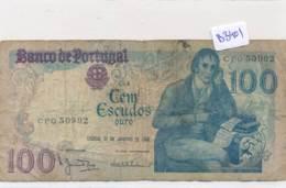 Billet - B3401 - Portugal - Cem Escudos 1984  ( Catégorie,  Nature état ... Se Référer Au Double Scan) - Portugal