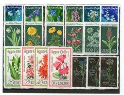 Lot Blumen (DDR) Postfrisch - Stamps