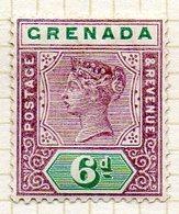 AMERIQUE CENTRALE - GRENADE - (Colonie Britannique) - 1895-99 - N° 34 - 6 P. Violet Et Vert - (Victoria) - Amérique Centrale