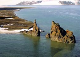 1 AK Russia Russland * Franz Josef Land - Die Insel Hall Mit Dem Kap Tegethoff * - Rusia