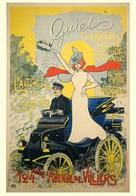 Car Automobile Postcard Guiet 1899 - Reproduction - Pubblicitari