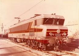 Photographie De Locomotive électrique, La CC-6503 D'Alsthom Dans Sa Livrée D'origine, Grande Photo Vers 1970, 6500 - Trains