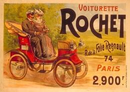 Car Automobile Postcard Voiturette Rochet 1898 - Reproduction - Pubblicitari