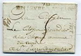 Révolution Française : 70 BELLEVUE LES BAINS ( Nom Révolutionnaire De Bourbon Lancy ) / Dept 70 Saône Et Loire / An 6 - 1701-1800: Précurseurs XVIII