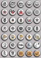 35 X Chess Fan ART BADGE BUTTON PIN SET 2 (1inch/25mm Diameter) - Badges