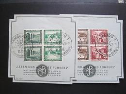 DR-ZD Nr. W115 + W121, 1936, Gedenkblatt, Sonderstempel Hamburg *DEL2104* - Deutschland