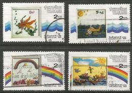 Thailand - 1989 Plasticine Paintings Used   Sc 1292-5 - Thailand