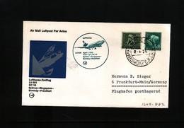 India 1974 Lufthansa LH 691 First Flight Bombay - Frankfurt - Inde