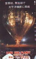Telecarte JAPON * BALLON * MONTGOLFIERE (1750) Hot Air Balloon * Aerostato * Heißluft PHONECARD JAPAN - - Sport