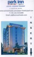 India Hotel Key, Park Inn By Radisson Jaipur, Jaisingh Highway  (1pcs) - Inde