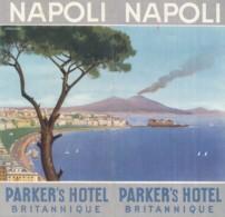 V.67.  NAPOLI - Pieghevole Parker's Hotel Britannique - Anni '50 - Napoli
