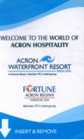 India Hotel Key, Acron Waterfront Resort, Baga, Goa  (1pcs) - Inde