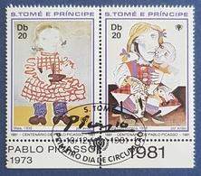 S.Tome E Principe , 1981 , The 100th Anniversary Of The Birth Of Pablo Picasso And  International Year Of The Child - Sao Tome Et Principe