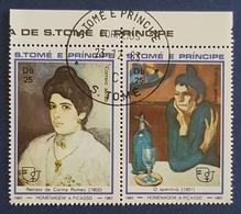 S.Tome E Principe , 1982 , Christmas , Paitings Of Women By Pablo Picasso , Sao Tome  And Principe , Used - Sao Tome Et Principe