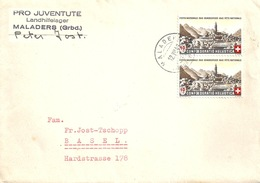 "Motiv Brief  ""Pro Juventute Landhilfelager Maladers""          1943 - Suisse"