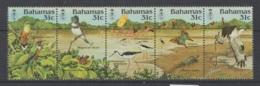 BAHAMAS    1984   **   MNH  NUMEROS  YVERT   563/A-E    PAJAROS  Y  MARIPOSAS   VALOR   20 € - Bahamas (1973-...)