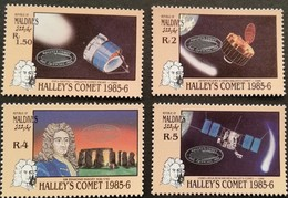 "Maldive Islands 1986 Halley""s Comet Lot - Timbres"