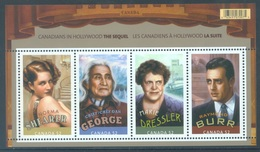 CANADA  - MNH/*** LUXE - 2008 - CANADIAN IN HOLYWOOD- Yv BLOC 104  - Lot 18505 - Blocs-feuillets