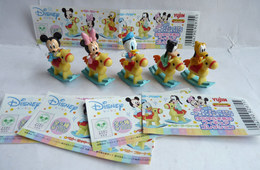 SERIE COMPLETE DE 5 FIGURINE MICKEY DISNEY JAPONAISE YUJIN AVEC 5 BPZ - Disney