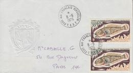 Enveloppe  T.A.A.F   Oblitération   PORT  AUX  FRANCAIS   KERGUELEN  1976 - Terres Australes Et Antarctiques Françaises (TAAF)