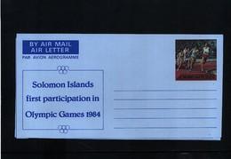 Solomon Islands 1984 Olympic Games Los Angeles Aerogramme - Summer 1984: Los Angeles