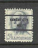USA 1962/63 Pre-cancel Kansas City Mo. Michel 817 - United States