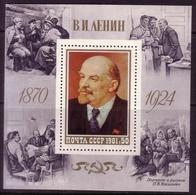 SOWJETUNION BLOCK 151 ** 111. GEBURTSTAG LENIN GEMÄLDE - Lenin