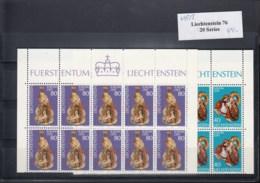 Liechtenstein Michel Cat.No. Mnh/** 642/643  Cept Issue Bulk Offer -20- Items As Folded Sheets - 1976