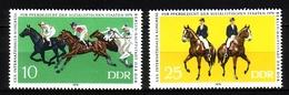 DDR MI-NR. 2449-2450 ** PFERDEZUCHT KONGRESS DRESSUR GALOPPRENNEN - Horses