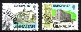 GIBRALTAR MI-NR. 519-520 O EUROPA 1987 - MODERNE ARCHITEKTUR - Gibraltar