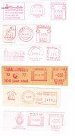 Niederlande 6 Freistempel Edam, Zierickzee, Ijmuiden, Vlaardingen, Zwolle, Zutphen - Wappen,  Blason - Meterstamp - Marcofilie - EMA (Print Machine)