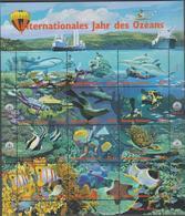 NATIONS UNIES VIENNE (AUTRICHE) 1 Feuille 12t Neufs Xx 271 à 282 - 1998 - Année Internationale Des Océans - Vienna - Oficina De Las Naciones Unidas