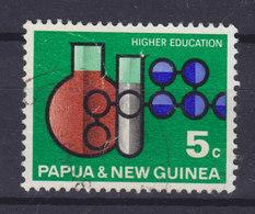 Papua New Guinea 1967 Mi. 109  5c. Hochschulwesen Messkolben Reagenzglass Moleküle - Papouasie-Nouvelle-Guinée