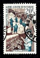 COTE D'IVOIRE 272° 20f Bleu-vert Et Brun-lilas Industrialisation Ficellerie (10% De La Cote + 015) - Côte D'Ivoire (1960-...)