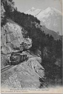 BRÜNIGBAHN → Dampfzug Zwischen Passhöhe Und Meiringen, Ca.1915 - BE Bern