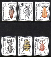 FRANKREICH MI-NR. 106-111 ** PORTOMARKEN - KÄFER - Insects